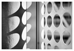 Shadows of circles (leo.roos) Tags: bubbles circles cirkels shadow schaduw noiretblanc makroplanart250 makroplanar502zf a7rii carlzeissmakroplanar502 zf cz denhaag thehague architecture architectuur leyweg stadskantoorleyweg rudyuytenhaak cityhall morgenstond stadsdeelkantoorescamp darosa leoroos dayprime day50 dayprime2018 dyxum challenge prime primes lens lenzen brandpuntsafstand focallength fl