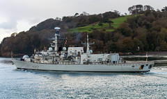 HMS Westminster 5th November 2017 #13 (JDurston2009) Tags: f237 hmswestminster devon dukeclass frigate plymouth royalnavy type23 warship hamoaze rivertamar