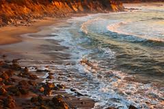 Golden Ocean (leakylightbucket) Tags: halfmoonbay pescadero sunset pacific pacificcoasthighway waves