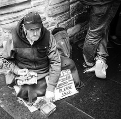 Turning his back (kross89) Tags: street homeless blackandwhite leica edinburgh bw people