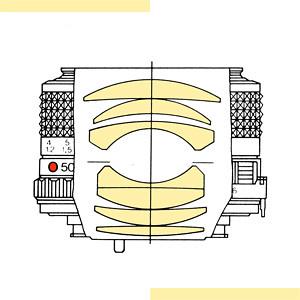 Minolta MD Rokkor 50mm ƒ/1.4 (version MD-III) | optical formula