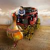 At the time of the diligences (jaci XIII) Tags: diligência carro ganso animal ave carruagem pessoa homem carriage goose man person