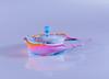 Splash art photography (IshranI) Tags: splash art photography blue cream acrylic base