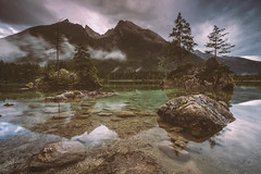 Lake Hintersee (Mika Laitinen) Tags: canon5dmarkiv europe germany hintersee lakekönigssee leefilters calm cliff cloud color lake landscape longexposure mountain nature outdoors reflection rock sky sunset water ramsaubeiberchtesgaden bayern de