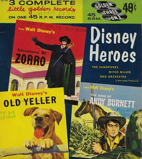 Three Little Golden Records- Disney Heroes