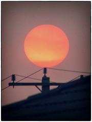 Balancing ball (LivingStone Images) Tags: 15feb18 2018 365the2018edition 3652018 colourefexpro day46365 nikcollection pink smoke sun sunset