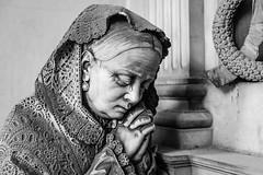 Atto di fede (maxmene70) Tags: urban urbex decay lost cemetery staglieno woman cry old travel light dark pray canon city architecture