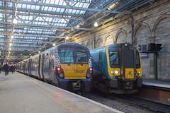 Early Start (daveymills31294) Tags: edinburgh waverley class 334 023 350 406 scotrail transpennine express alstom juniper