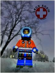 Ski Patrol (LegoKlyph) Tags: lego custom brick ski snow winter block mini figure cold