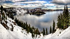 Crater Lake (Lake Vermilion1) Tags: oregon craterlake lake island nationalpark nature landscape blue water usa volcano snow travel winter mountains northrim rim clouds sky reflection evergreentrees wizardisland deep frozen cold calm nikond810 gitzo landschaft