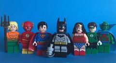 DC Figs #54: Justice + 1 Year (KoyoteKB) Tags: league superman batman wonderwoman flash greenlantern aquaman martianmanhunter lego photo 54 series dc comic 1year thanks cheers