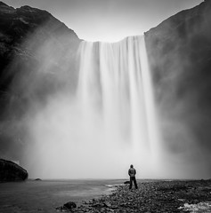 Skogarfoss (Adam Saltman) Tags: skogarfoss black white iceland
