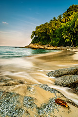 Surin Beach in the early morning (CHCaptures) Tags: 09ndgradfilter haidaaustria haidafilters landschaft ndfilter palm polfilter sommer surinbeach thailand a7ii beach dusk ilce7ii morning sand sel2470z sony sunrise travel variotessartfe42470 tambonchoengthale changwatphuket th