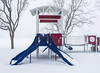 Not the Best Day for Playing Ball (WilliamND4) Tags: snow storm playground slide nikon d810