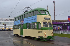 Blackpool Transport Balloon Car 715 (Will Swain) Tags: blackpool 7th october 2017 tram trams light rail railway rails transport travel europe north west lancaster lancs coast sea coastal tramway balloon car 715