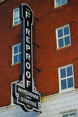 fireproof warehouse and storage co. (brown_theo) Tags: fireproof neon short north columbus ohio apartments