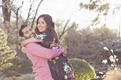 (Nauman's Photography) Tags: engagement wedding weddings marriage garden couple winter portrait canon 1755 eos love outdoors dream dreamy pond trees tree pink black flower flowers