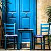 Bleu crétois (Lucille-bs) Tags: europe grèce crète chania hania bleu table chaise porte 500x500