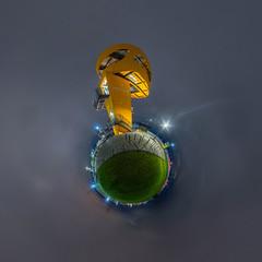 Viewpoint (HamburgerJung) Tags: hamburg germany deutschland hugin panorama pentax k3 da1017 fisheye hafen hafencity viewpoint nightshot nacht nachtaufnahme night planet littleplanet stereographic