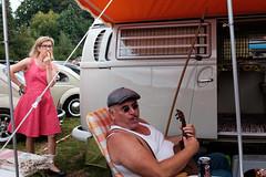 VW - party (_Joris Dewe_) Tags: volkswagen vintage vw street streetphotography jorisdewe candid fujifilm x100t life salon309 camping belgium singer music surprise straatfotografie streetphoto