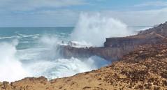 Big Wave on Cape Bauer (sarinozi) Tags: australia australian outdoor nature natural seaspray erosion rugged rock cliff rough windswept barren