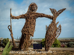 Catch of the day (1 of 1) (dahol17) Tags: spsweekend northwales nikon lake landscape wicker statue
