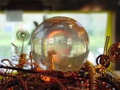 Detail of a  Sferoself (Damanhur, Federation of Communities) Tags: flickr facebook page upload photo sferoself selfica sphere copper spiral wire damanhur detail