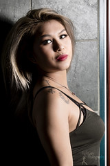 Test Shoot - Aivy League Cosplay (2) (FightGuy Photography) Tags: aivyleaguecosplay blonde tanktop crystalcity