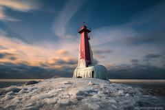 Winter Afternoon (Long Exposure) (golferboy2321) Tags: canon 5d3 lighthouse muskegon lakemichigan leefilters