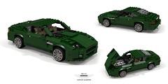 Aston Martin DB7 V12 (lego911) Tags: aston martin db7 v12 coupe ford motor company jaguar xjs great britain british auto car moc model miniland lego lego911 ldd render cad povray 1999 1990s