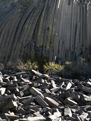 A group of basalt columns called Devils Postpile in a National Monument near Mammoth, California (albatz) Tags: rock volcanic basalt columns devilspostpile nationalmonument mammoth california