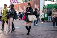High Falutin (burnt dirt) Tags: asian japan tokyo shibuya station streetphotography documentary candid portrait fujifilm xt1 laugh smile cute sexy latina young girl woman japanese korean thai dress skirt shorts jeans jacket leather pants boots heels stilettos bra stockings tights yogapants leggings couple lovers friends longhair shorthair ponytail cellphone glasses sunglasses blonde brunette redhead tattoo model train bus busstation metro city town downtown sidewalk pretty beautiful selfie fashion pregnant sweater people person costume cosplay black pink shopping bag puffy