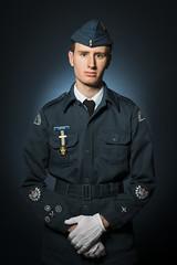 WO 2 Carter (brentbeme) Tags: cadet canada studio shoot uniform blue
