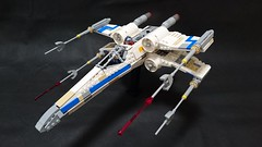Blue Leader's X-wing (kame.95) Tags: lego star wars rogue one xwing blue leader