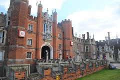 Front of Hampton Court Palace (zawtowers) Tags: hampton court palace east molesey surrey henry viii historic royal residence saturday february 17th sunny dry visit front entrance moat bridge brick built majestic mid afternoon