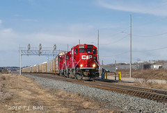 CP 2270 (Ramblings From The 4th Concession) Tags: panasonicfz1000 freighttrains emdlocomotives cprail cpgaltsub gp20ceco cp2270 wolvertonont