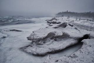 The Frozen World:  West Shore Of Lake Michigan