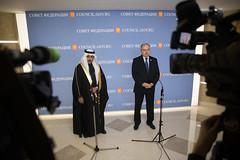 Встреча В. Матвиенко с заместителем Председателя Консультативного совета Королевства Саудовская Аравия Яхъей Абдуллой Ас-Самааном (The Council of Federation) Tags: советфедерации саудовскаяаравия