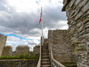 DSC04474a (Dunnock_D) Tags: uk unitedkingdom britain england shropshire blue sky ludlow castle white clouds steps stairs staircase english flag