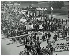 Vietnam vets stage antiwar demonstration: 1971 (washington_area_spark) Tags: vietnam veterans against war vvaw protest demonstration rally march anti indochina encampment national mall washington dc 1971 medals ribbons military ex servicemen civil disobedience