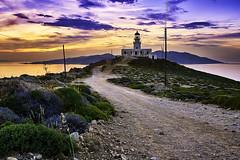 Lighthouse Chora (Dani.Noguera) Tags: mykonos greece holidays harbour chora windmills kastros monastery delos renia lighthouse little venice naxos principesco