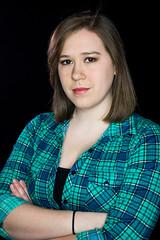 (aldenfrautschy) Tags: ringlight studio female girl inside indoors portrait cute flirty fun sexy cleavage flannel