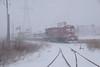 Belt Job Heading Back (wc_sd45_7500) Tags: minnesota commercial ge b237 b23 mnnr roseville snow scene belt job train trains railroad