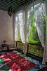 Marrakech, Morocco (Paul in Japan) Tags: marrakech marrakesh morocco window rug curtain sheer light nature indoor outdoor frame vintage riad