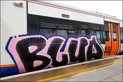 (Alex Ellison) Tags: painted train panel runner londonoverground urban graffiti graff boobs blud