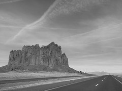 South of Shiprock, New Mexico (New Expressions by the Old Christine) Tags: bw blackandwhite monochrome nm newmexico