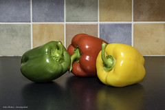 Food - DSC_1181 [Flickr Explore 9 February 2018] (John Hickey - fotosbyjohnh) Tags: 2018 february2018 tabletop food peppers colours indoor creative worktop macro artistic image