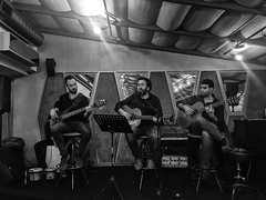 From Sempre Restaurant #19 (Streets.and.Portraits) Tags: monochrome blackwhite music group iphone bw eskişehir eskisehir sempre restaurant player orchestra turkey tr