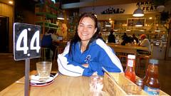 New Lynn, Auckland, New Zealand (Sandy Austin) Tags: panasoniclumixdmcfz70 sandyaustin newlynn westauckland auckland northisland newzealand café shakyisles daughter