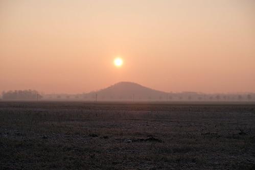 Sunrise over the Seilbahnberg, Lengede.